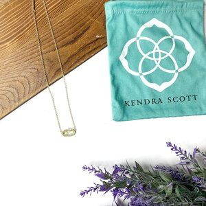 Gold Kendra Scott Elisa Pendant Filigree Necklace